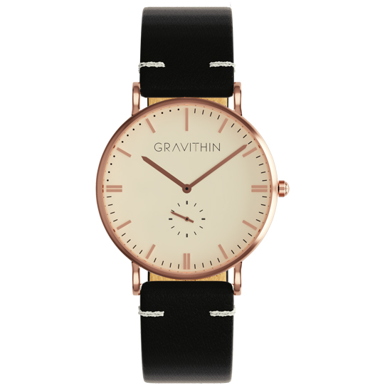 Rose gold watch leather