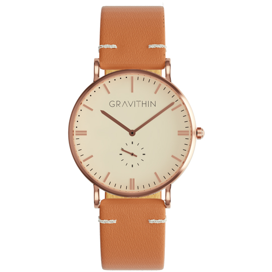 Rose gold watch gravithin