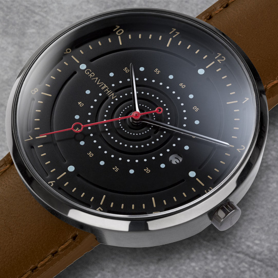 argo-gunmetal brown strap